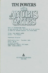 The Anubis Gates, Advanced Reading Copy ARC